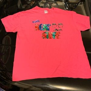 "Hot pink ""Really Neat Stuff"" tshirt"